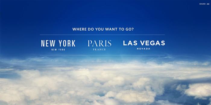 Virtualus viešbutis:Niujorkas, Paryžius, Las Vegas,