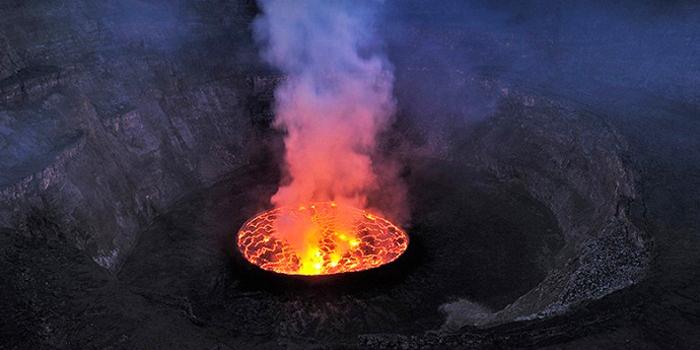 Verdančios lavos ežeras