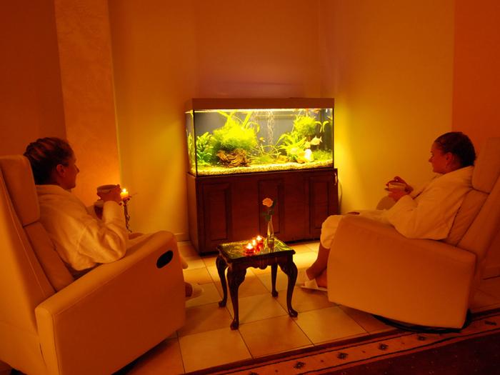 Gerdami arbatą bei mėgaudamiesi aromaterapija, atsipalaiduosite relaksacijos kambaryje.